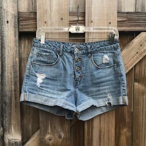 Forever 21 Button Up Denim Shorts